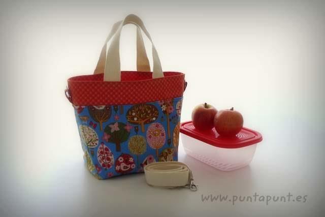 bolso cesta para llevar fiambrera comida picnic punt a punt