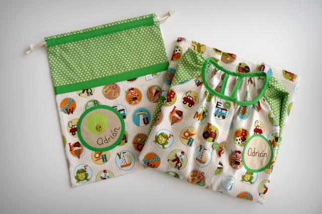 bata escolar y set escolar artesanal personalizado 2015 punt a punt-008