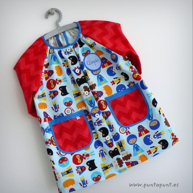 bata escolar y set escolar artesanal personalizado 2015 punt a punt-018