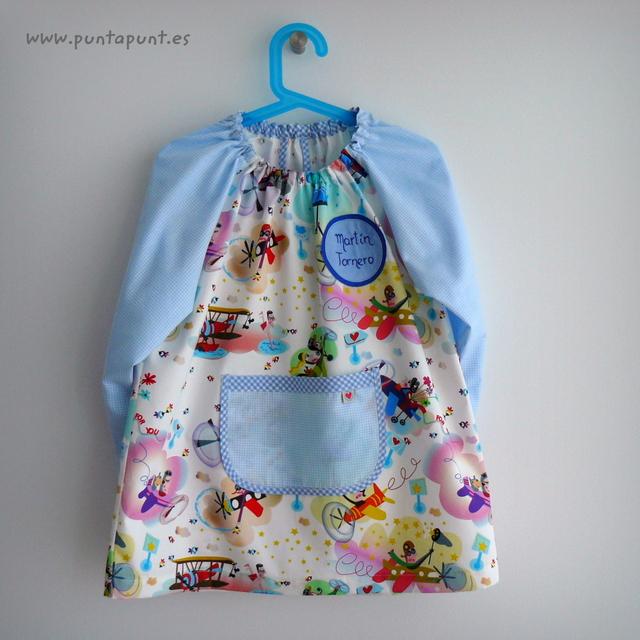bata escolar y set escolar artesanal personalizado 2015 punt a punt-064