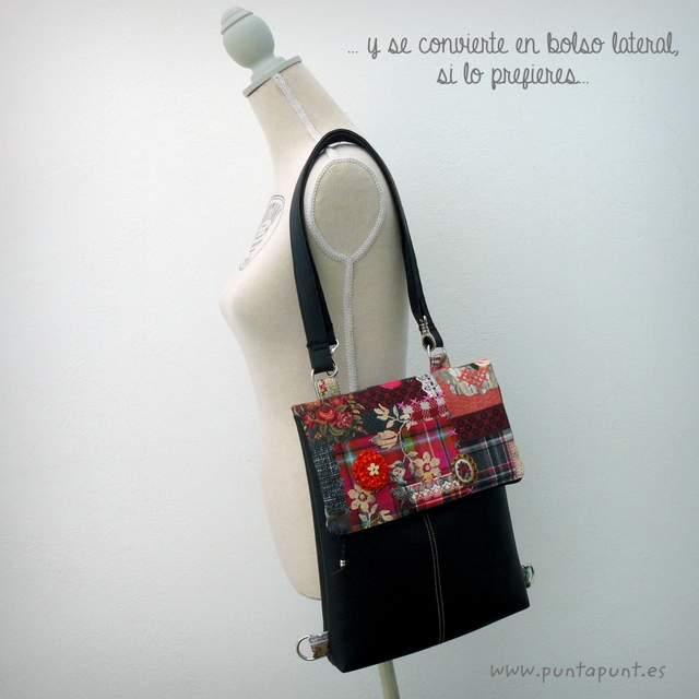 mochila backbag simil negro convertible a bolso punt a punt-002