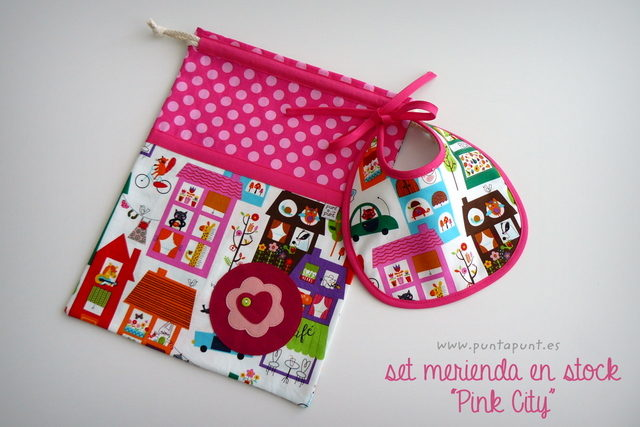 "Set Merienda ""Pink City"" – en stock"