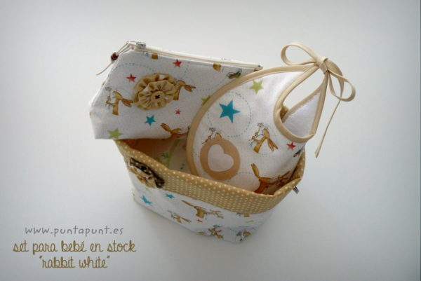 set para bebe artesanal rabbit white punt a punt-007