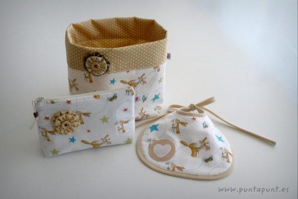 set para bebe artesanal rabbit white punt a punt-008