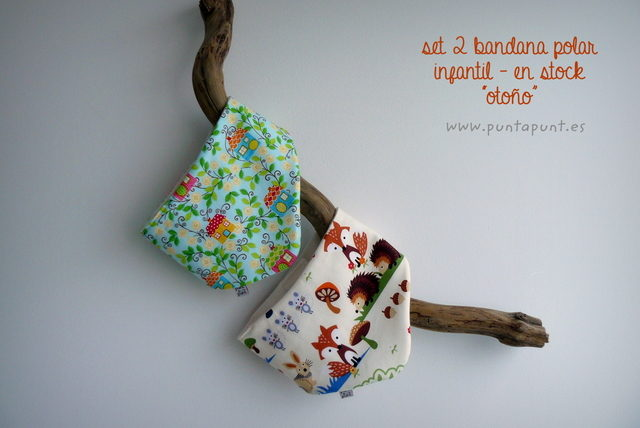 "Set 2 Bandana polar ""Otoño"" – en stock"