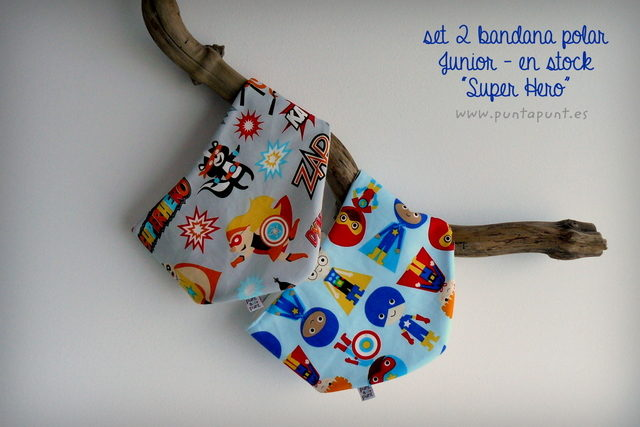 "Set 2 Bandana polar ""Super Hero"" – en stock"
