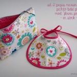 set 2 piezas neceser pechito personalizado flower power en stock