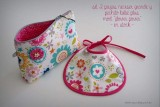 set 2 piezas neceser pechito personalizado flower power en stock