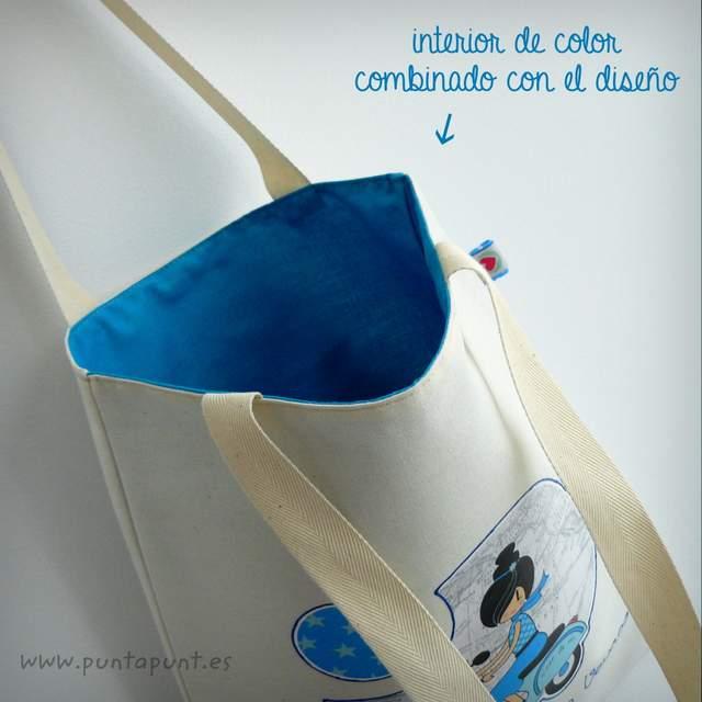 bolsa cotton bicolor bon voyage azul punt a punt-001
