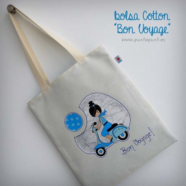 bolsa cotton bicolor bon voyage azul punt a punt-002