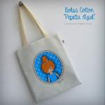 bolsa multiusos cotton pepetta azul punt a punt
