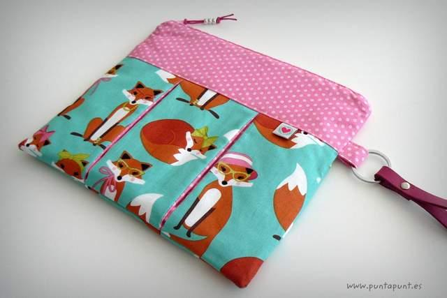 bolso de mano o neceser fuelles foxy lady punt a punt
