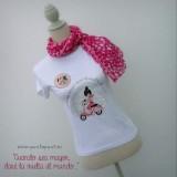 camiseta artesanal la vuelta al mundo rosa punt a punt