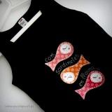 camiseta artesanal transfer sardinillas en rojos punt a punt