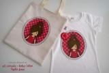 camiseta artesanal y bolsa cotton pepetta fresa punt a punt-002