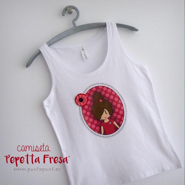 "Camiseta personalizada ""Pepetta"" y set camiseta + bolsa"