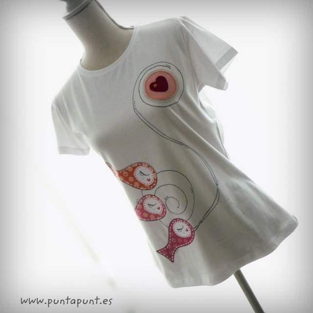 camiseta original artesanal sardinillas rosa trans puntapunt-004