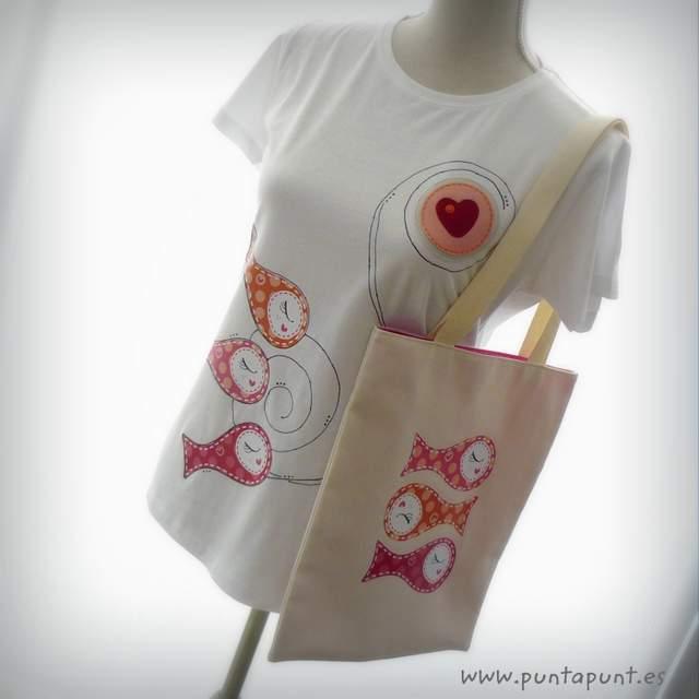 camiseta original artesanal sardinillas rosa trans puntapunt-006