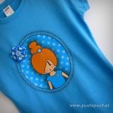 camiseta personalizada a mano pepetta azul punt a punt-001