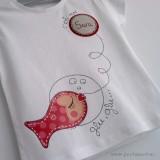 camiseta personalizada artesanal glu glu rojo punt a punt-001