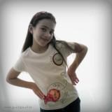 camiseta personalizada artesanal glu glu rojo punt a punt-004