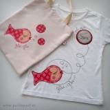 camiseta personalizada artesanal glu glu rojo punt a punt-005