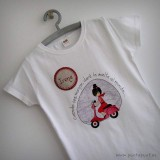 camiseta personalizada artesanal vuelta al mundo rojo punt a punt