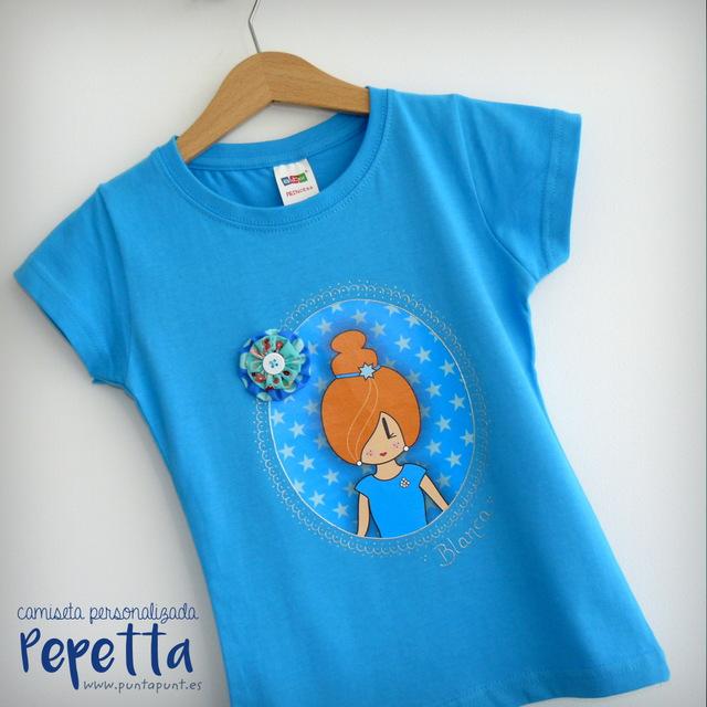 camiseta personalizada pepetta azul punt a punt