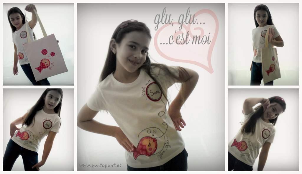 camiseta y bolsa cotton gluglu modelo imagen