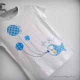 camiseta personalizada artesanal glu glu azul punt a punt-001