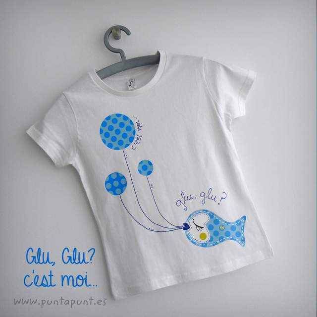 camiseta personalizada artesanal glu glu azul punt a punt-002