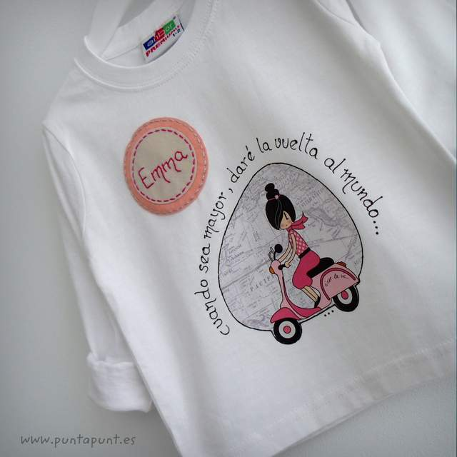 camiseta personalizada vuelta al mundo emma punt a punt-001