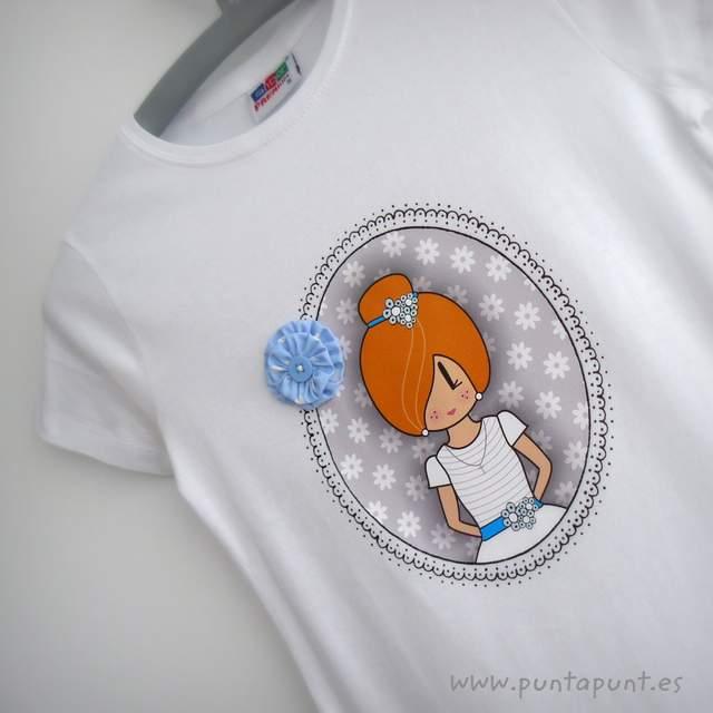 camiseta primera comunion personalizada pepetta azul punt a punt-001