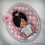 camiseta primera comunion personalizada pepetta rosa punt a punt-001