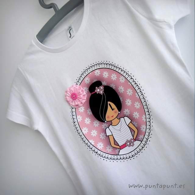 camiseta primera comunion personalizada pepetta rosa punt a punt-002