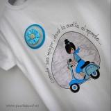 camiseta vuelta al mundo azul punt a punt-001