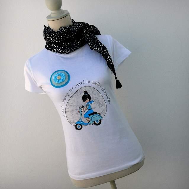 camiseta vuelta al mundo azul punt a punt-002