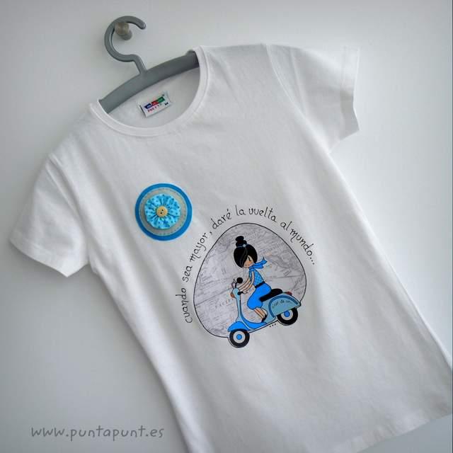 camiseta vuelta al mundo azul punt a punt