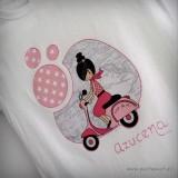 camiseta artesanal bon voyage rosa personalizada punt a punt 001