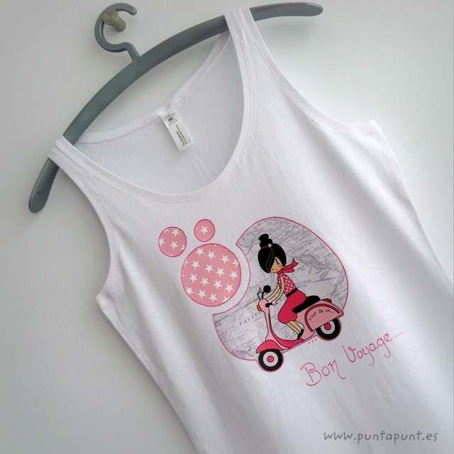 """Camiseta personalizada """"Bon Voyage"""" y set camiseta + bolsa"""