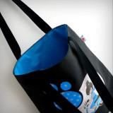 bolsa cotton negra bon voyage azul punt a punt-001