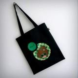 bolsa cotton negra nicca green punt a punt
