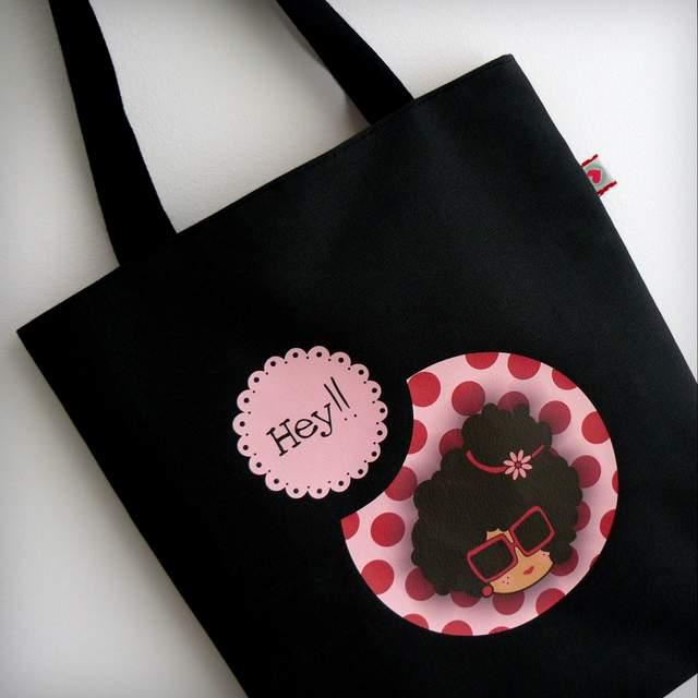 bolsa cotton negra nicca pink punt a punt-001