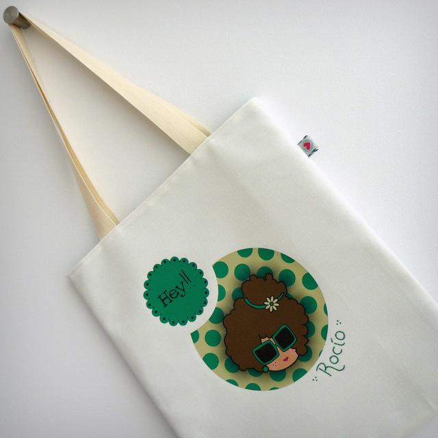 bolsa personalizada cotton natural nicca green punt a punt