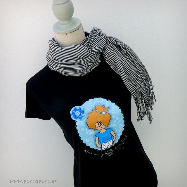 camiseta para profesora personalizada nicca blue punt a punt