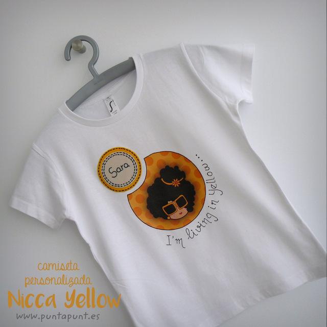 camiseta personalizada artesanal nicca yellow punt a punt