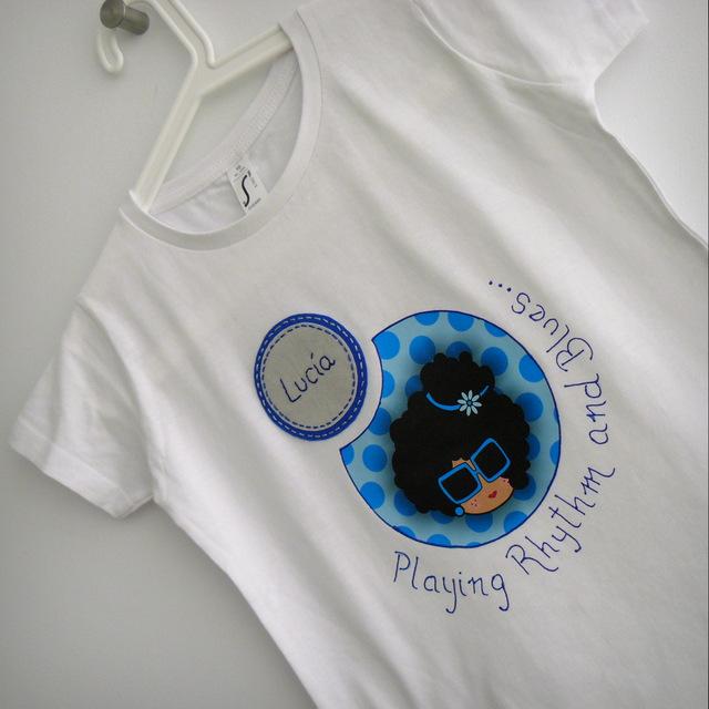 camiseta personalizada blanca nicca blue punt a punt