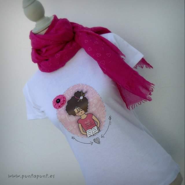 camiseta personalizada para profesora tonos rosa nicca punt a punt-002
