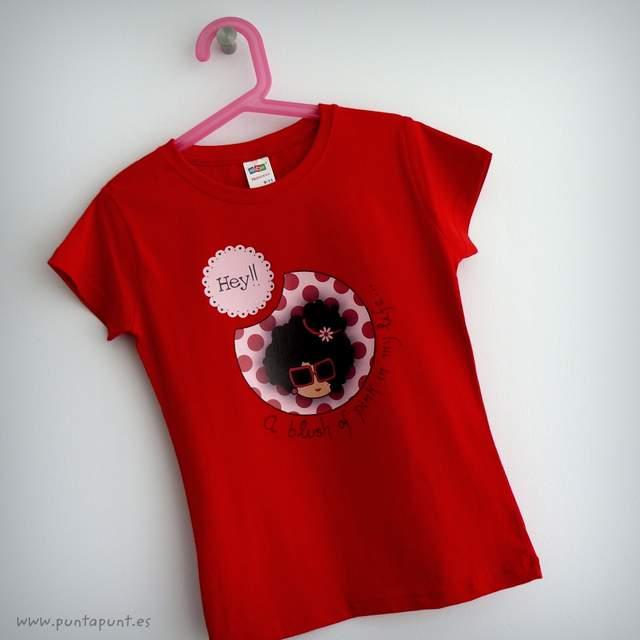 camiseta roja personalizada nicca pink punt a punt-001