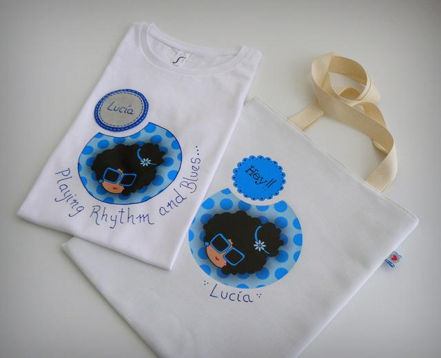 set camiseta personalizada y bolsa cotton nicca green blue punt a punt-001